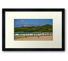 Beaches of Byron Framed Print