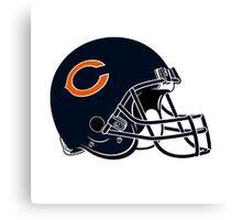 chicago bear helmet Canvas Print