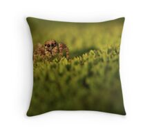 On Green Serenity Throw Pillow