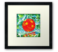 Red Ball in the Water Framed Print