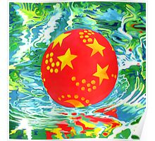 Red Ball in the Water Poster