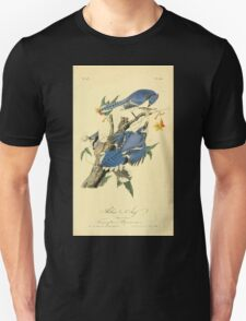 James Audubon Vector Rebuild - The Birds of America - From Drawings Made in the United States and Their Territories V 1-7 1840 - Blue Jay T-Shirt
