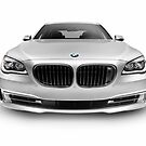 BMW 7 series 750Li Individual luxury car front view art photo print by ArtNudePhotos