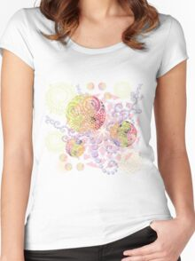 Colorful Feast Women's Fitted Scoop T-Shirt