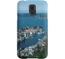 Bergen from Above on funicular Norway 198406110011m  Kodachrome Samsung Galaxy Case/Skin