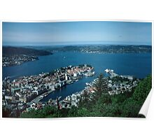 Bergen from Above on funicular Norway 19840611 0011m  Kodachrome Poster