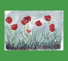 Poppies mean Spring! Kids Clothes