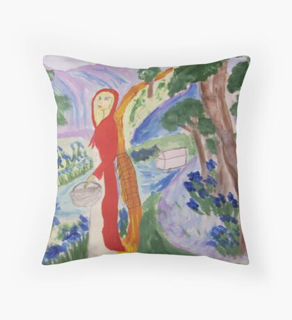 Red is Blue Throw Pillow