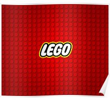 Logo Red Lego Poster