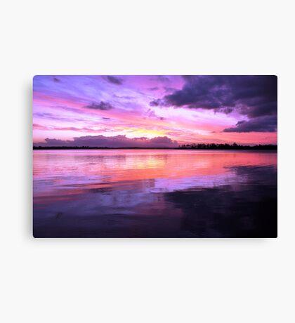 Pulsing Purple Sunset Canvas Print