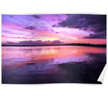 Pulsing Purple Sunset Poster