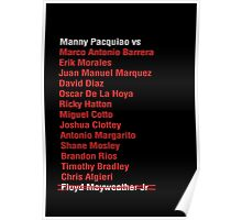 Manny Pacquiao opponents  Poster
