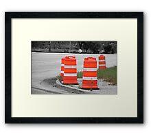 ORANGE BARRELS Framed Print