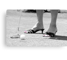 Golfing is Fashionable Canvas Print