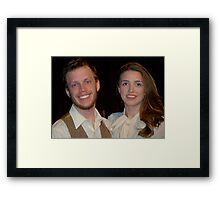 Alanna and Jake.. my Super Stars!! Framed Print