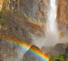 Bridal Veil Falls Rainbow by photosbyflood