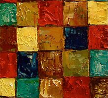 Blocked Squared Anthony Mitchell Oil Painting by Anthony Mitchell