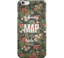 Maroon 5 Maps Quotes iPhone Case/Skin