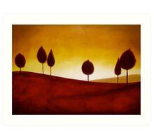 Crimson Anthony Mitchell Oil Painting  Art Print