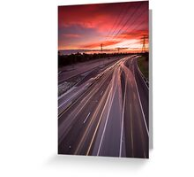Beautiful drive home... Greeting Card