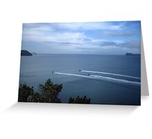 scenic black ops ocean Greeting Card