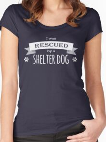 Shelter Dog Version Two Women's Fitted Scoop T-Shirt