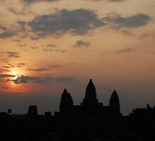 Sunrise at Angkor Wat by Baummer