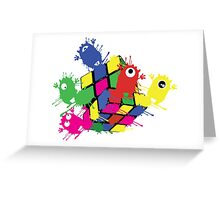Cube monsters Greeting Card