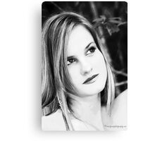 Headshot black white Canvas Print