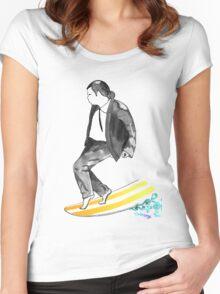 John SirVolta (surf-vol-ta) Women's Fitted Scoop T-Shirt