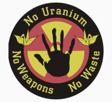 No Uranium No Weapons No Waste One Piece - Short Sleeve