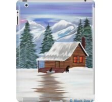 Cabin in the Woods - Black Labradors iPad Case/Skin