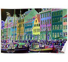Copenhagen. Nyhavn Colors Poster