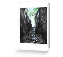 Trow Gill Greeting Card