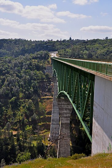 AMGEN 2010: Foresthill Bridge, Auburn California & highest bridge in California by Lenny La Rue, IPA