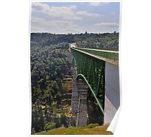 AMGEN 2010: Foresthill Bridge, Auburn California & highest bridge in California Poster