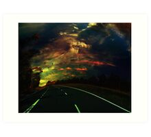 The lost highway Art Print
