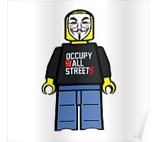Anonymous Lego Style Protester Occupy All Streets Poster