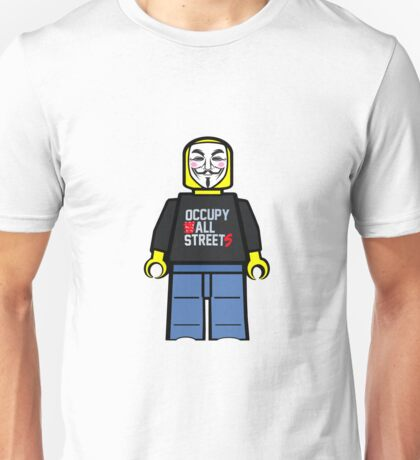 Anonymous Lego Style Protester Occupy All Streets Unisex T-Shirt