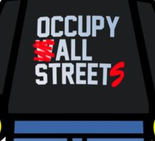 Anonymous Lego Style Protester Occupy All Streets Sticker