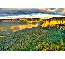 Light Rock - Blue Mountains World Heritage Area - The HDR Experience Photographic Print
