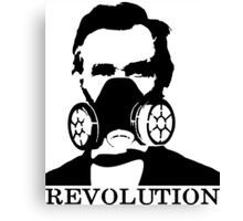 Revolution - Abraham Lincoln Gask Mask Canvas Print