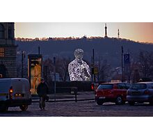 """Letterman"" Sculpture # 1 (Prague) Photographic Print"