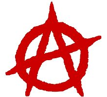 Anarchism Symbol Anarchist Red Photographic Print