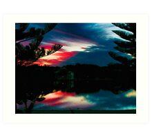 Reflective sky Art Print
