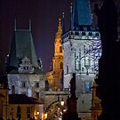Night View of West End of Charles Bridge (Prague) by ChrisHarvey67