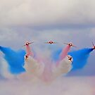 Break In The Clouds - The Red Arrows - Dunsfold 2014 by Colin  Williams Photography