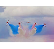 Break In The Clouds - The Red Arrows - Dunsfold 2014 Photographic Print