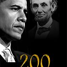 Barack Obama & Lincoln by Bobbi Miller-Moro