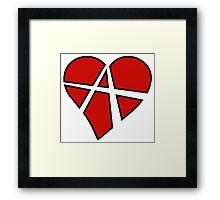 Anarchist Heart Red Framed Print